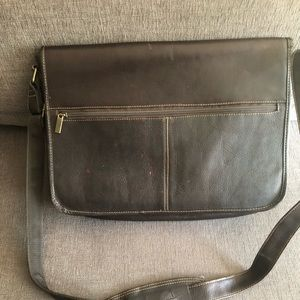 Brown Leather Brief Computer Bag